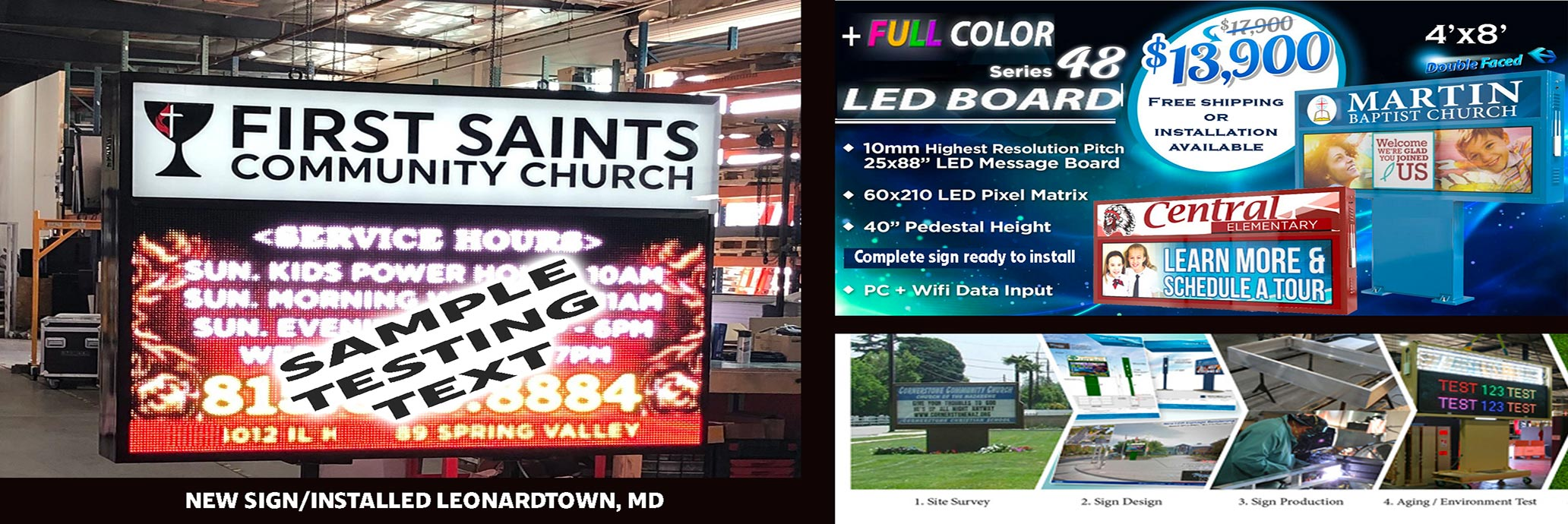 LED signs and church signs
